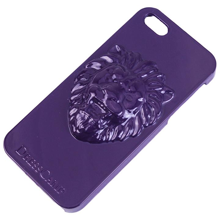 [4周年特価]DRESSCAMP iPhone SE/5s/5用ケース ライオン紫