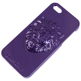 [8月特価]DRESSCAMP iPhone SE/5s/5用ケース ライオン紫