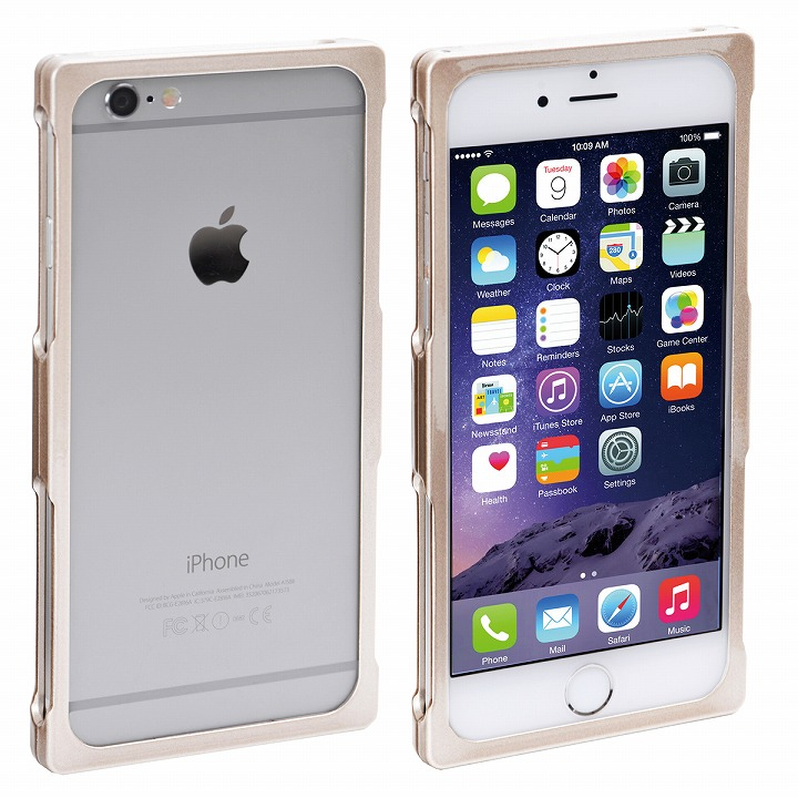 iPhone6s/6/8/7 ケース RECTA アルミバンパーケース メタリックゴールド iPhone 8/7/6s/6_0
