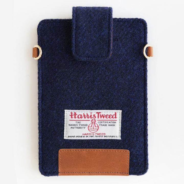 iPhone6s/6/SE ケース invite.L Harris Tweed スマホポーチ ネイビーブルー_0