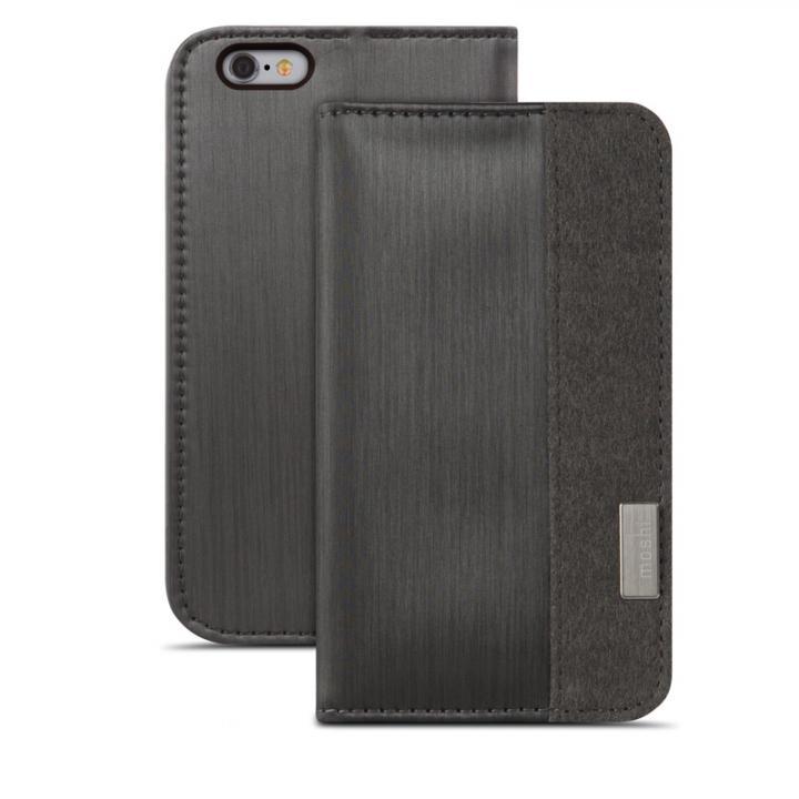 【iPhone6s/6ケース】moshi Overture 手帳型ケース ブラック iPhone 6s/6ケース_0
