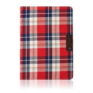 iPad Air用 スマートファブリックフリップ(レッドチェック)