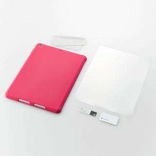 iPad Air用 スマートカバー対応 抗菌シリコンケースセット(ピンク)