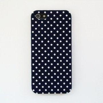 スマホの洋服屋 WHドット ネイビー iPhone 5ケース