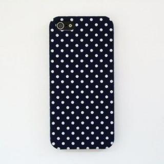 【iPhone SE/5s/5ケース】スマホの洋服屋 WHドット ネイビー iPhone 5ケース