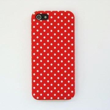 iPhone SE/5s/5 ケース スマホの洋服屋 WHドット レッド iPhone 5ケース_0