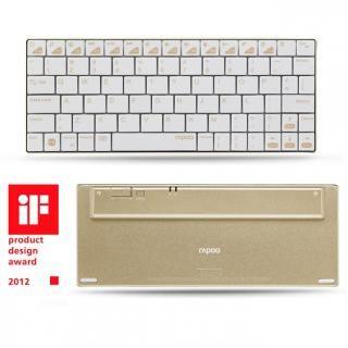 rapoo E6300GL iPhone/iPad用ウルトラスリムキーボード ホワイト×ゴールド