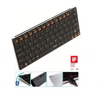 rapoo E6300 iPhone iPad用ウルトラスリムキーボード ブラック
