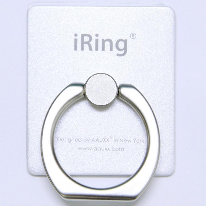 iRing アイリング iPhone落下防止&スタンド (パールホワイト)_0