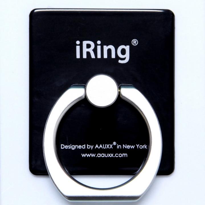 iRing アイリング iPhone落下防止&スタンド (ブラック)