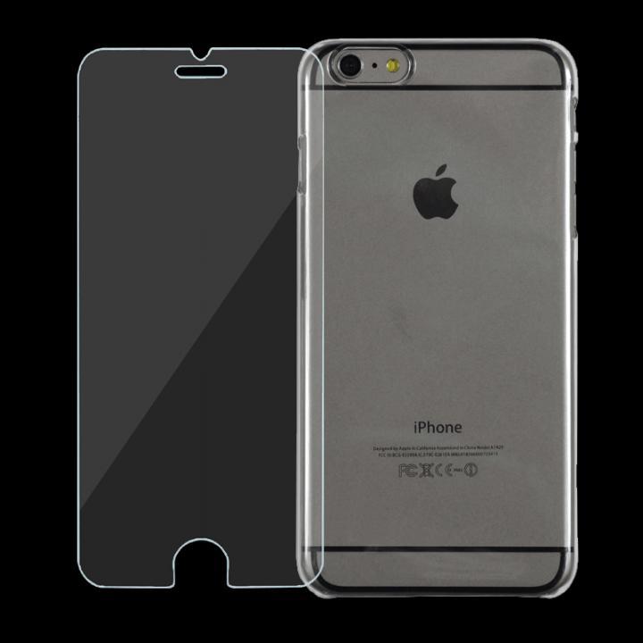iPhone6 Plus ケース [強化ガラス+クリアケース] JEMGUN スタータキット クリア iPhone 6 Plusケース_0