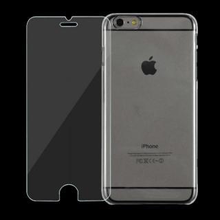 [強化ガラス+クリアケース] JEMGUN スタータキット クリア iPhone 6 Plusケース