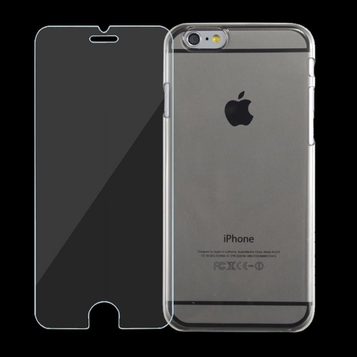 [強化ガラス+クリアケース] JEMGUN スタータキット クリア iPhone 6ケース