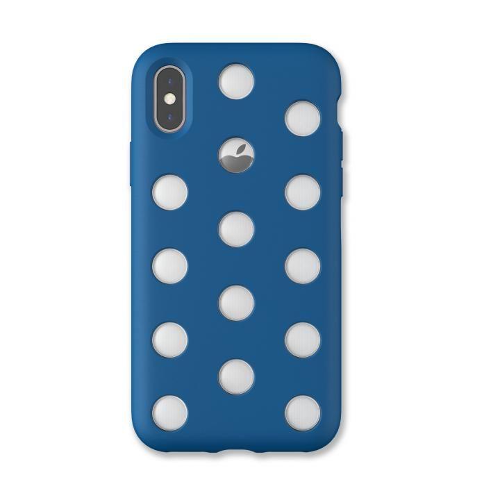 iPhone XS/X ケース AndMesh Layer Case 背面ケース コバルトブルー iPhone XS/X_0