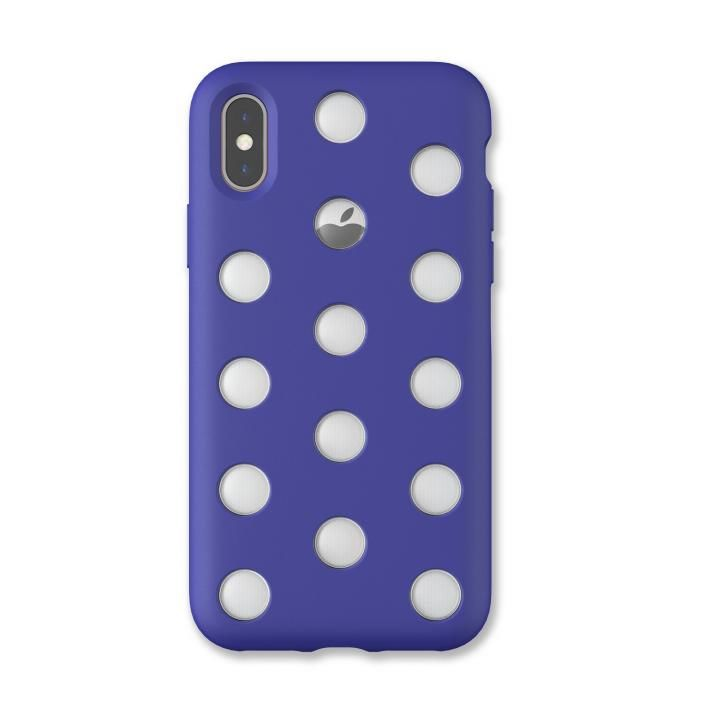 iPhone XS/X ケース AndMesh Layer Case 背面ケース ネオブルー iPhone XS/X_0