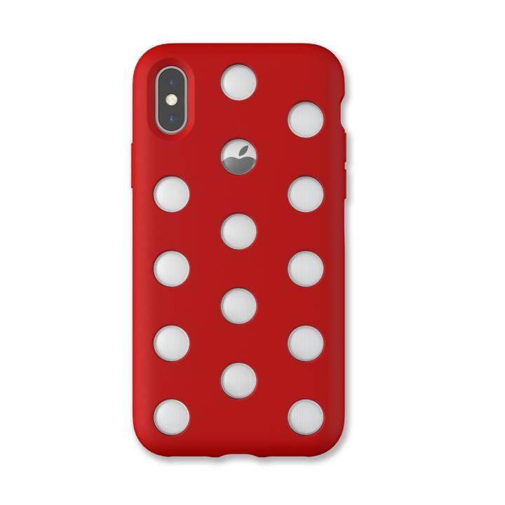 iPhone XS/X ケース AndMesh Layer Case 背面ケース レッド iPhone XS/X_0