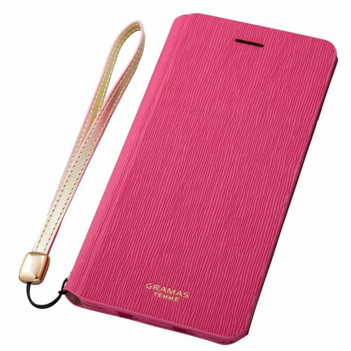 GRAMAS FEMME レザー手帳型ケース Colo ピンク iPhone 6s Plus/6 Plus