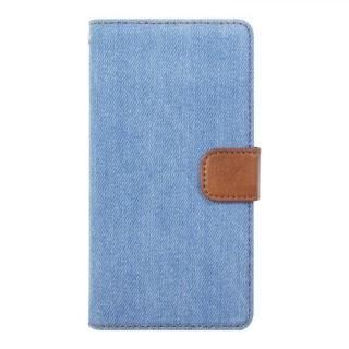 手帳型デニムケース ブルー iPhone X