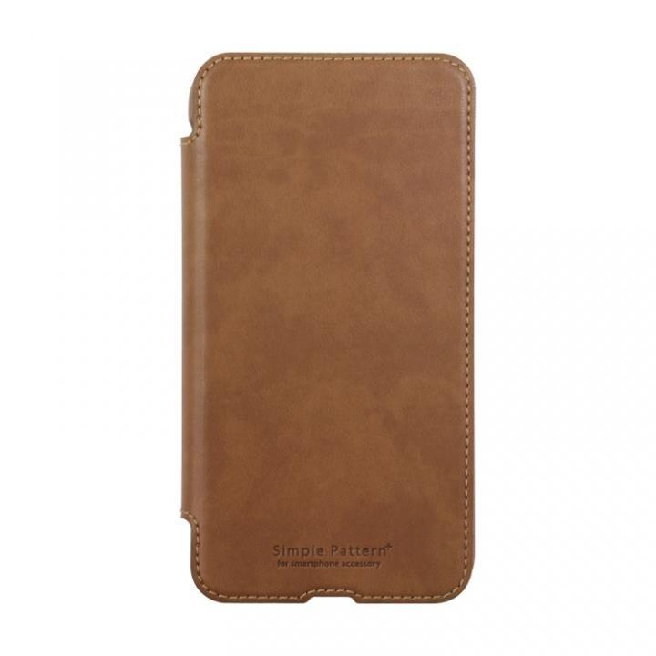 手帳型スリムケース ブラウン iPhone X