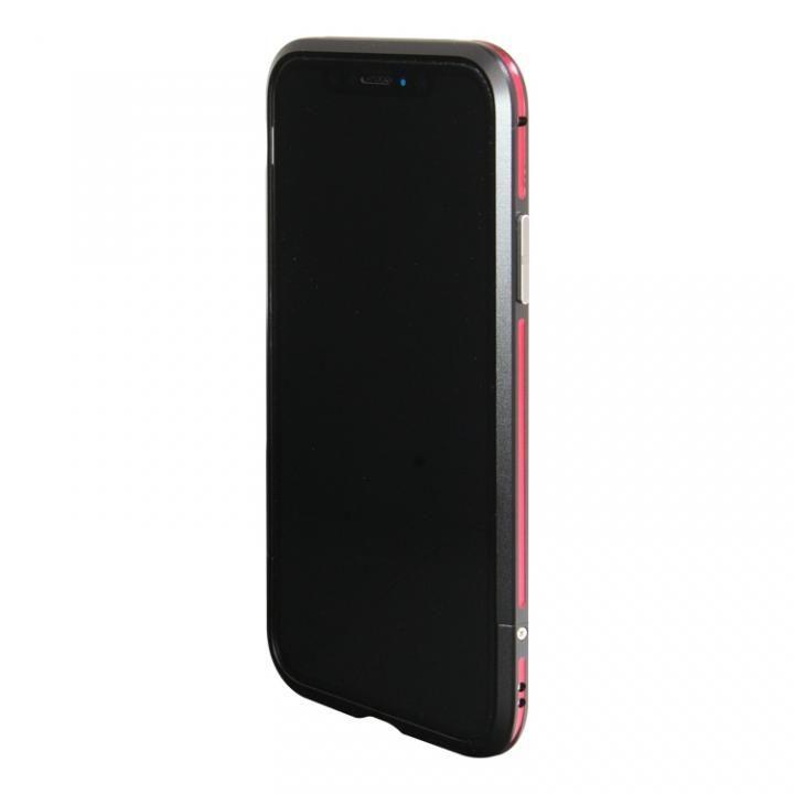 iPhone XS/X ケース アルミニウムバンパー ブラックレッド iPhone XS/X_0