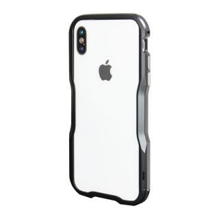 【iPhone XS/Xケース】アルミニウムバンパー ブラック iPhone XS/X_1