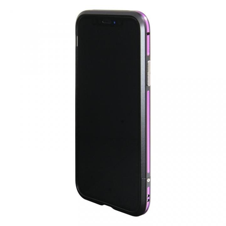 【iPhone XS/Xケース】アルミニウムバンパー ブラックパープル iPhone XS/X_0
