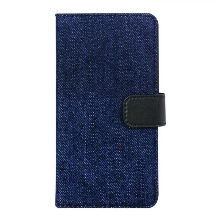 手帳型デニムケース ネイビー iPhone X