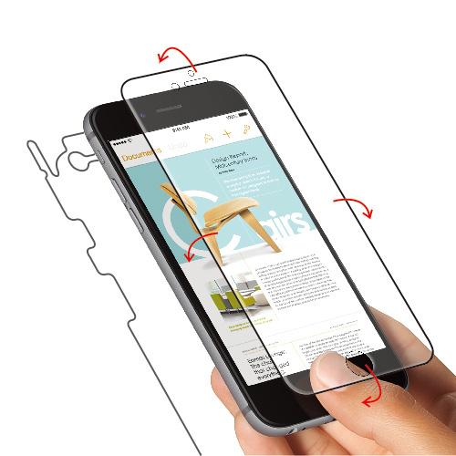 iPhone6s/6 フィルム 液晶全面保護フィルム FLEXA 前面背面フィルム iPhone 6s/6フィルム_0