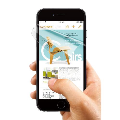 【iPhone6s Plus/6 Plusフィルム】液晶全面保護フィルム FLEXA 前面のみ iPhone 6s Plus/6 Plusフィルム_0