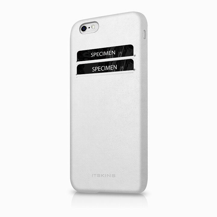 ITSKINS 背面カードホルダー付き合皮ケース CORSA ホワイト iPhone 6s/6ケース