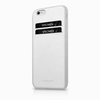 [2018バレンタイン特価]ITSKINS 背面カードホルダー付き合皮ケース CORSA ホワイト iPhone 6s/6ケース