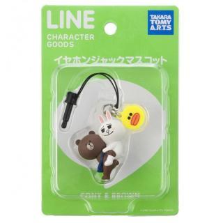 LINE CHARACTER/イヤホンジャックマスコット/コニー&ブラウン