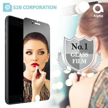 【iPhone8/7フィルム】Alpha Mirror 液晶保護ガラス iPhone 8/7_0