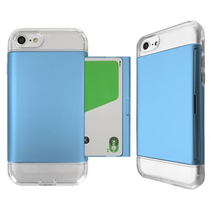 Alex 透明TPU+カード収納ケース ブルー iPhone 8/7