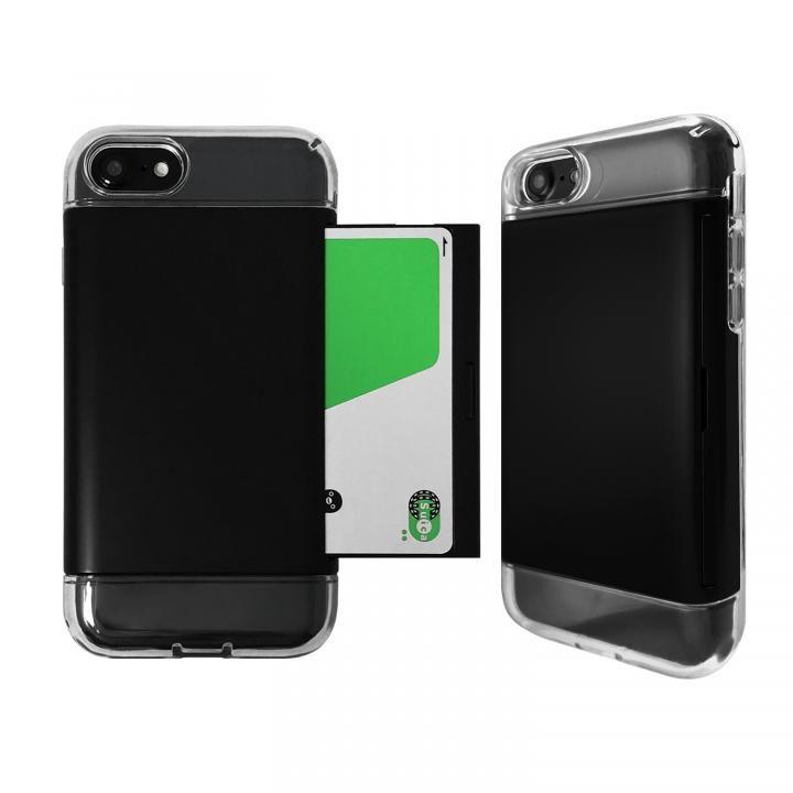 【iPhone8/7ケース】Alex 透明TPU+カード収納ケース ブラック iPhone 8/7_0