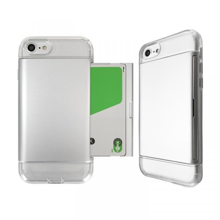 iPhone8/7 ケース Alex 透明TPU+カード収納ケース シルバー iPhone 8/7_0