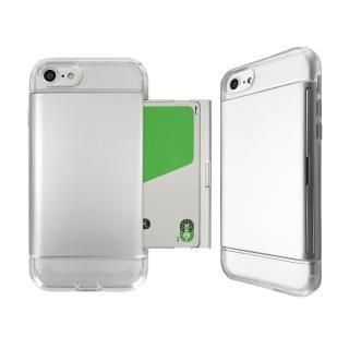 Alex 透明TPU+カード収納ケース シルバー iPhone 8/7