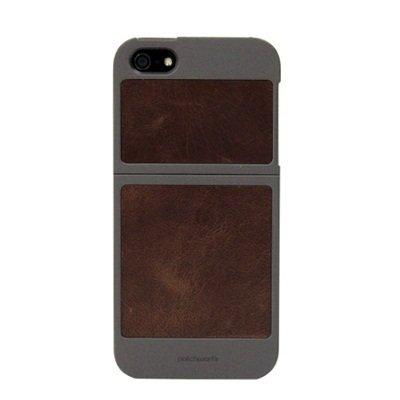 【iPhone SE/5s/5ケース】Classique Leather Case  iPhone 5 Titanium×Tan_0