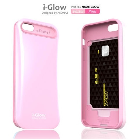 iPhone SE/5s/5 ケース i-Glow Pastel Case with TCS  iPhone 5_0