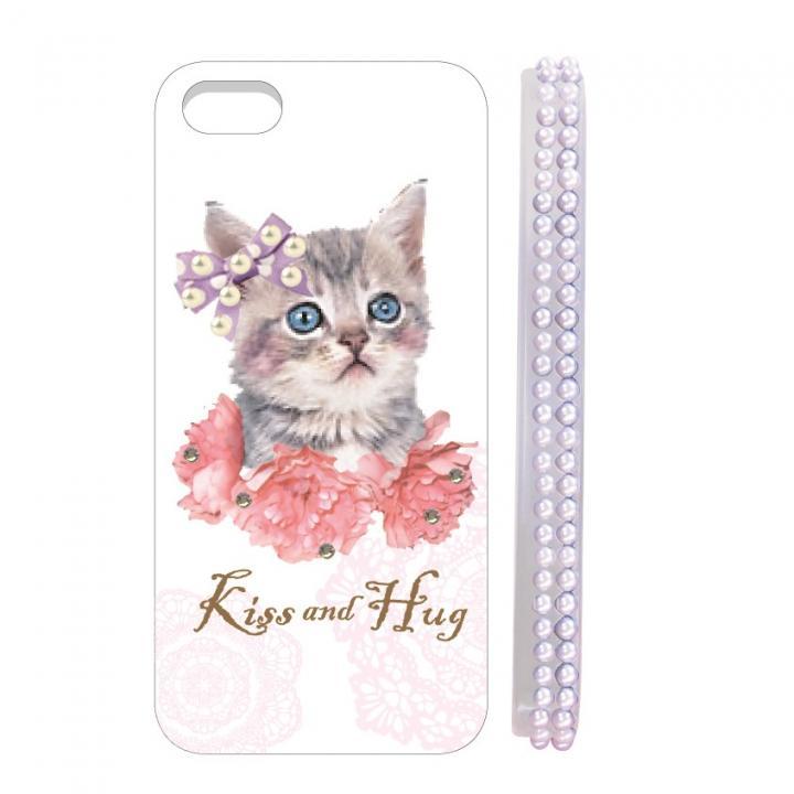 【iPhone SE/5s/5ケース】Diamond case  iPhone5 floral cat_0