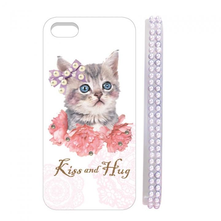 iPhone SE/5s/5 ケース Diamond case  iPhone5 floral cat_0
