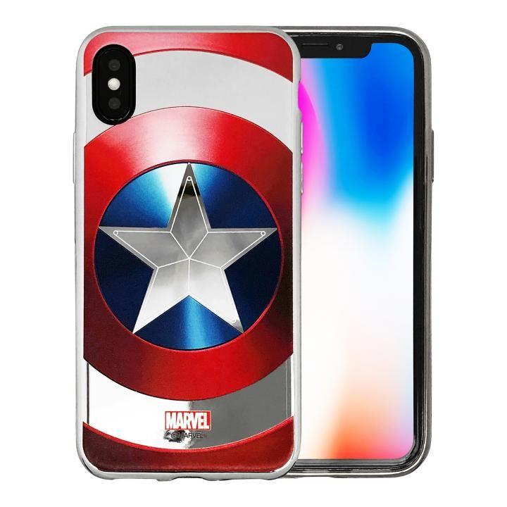 MARVEL Design ソフトTPUケース キャプテン・アメリカ:シールド iPhone X