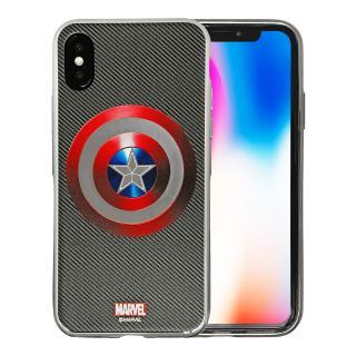 iPhone X/7 ケース MARVEL Design ソフトTPUケース キャプテン・アメリカ:シールドS iPhone X