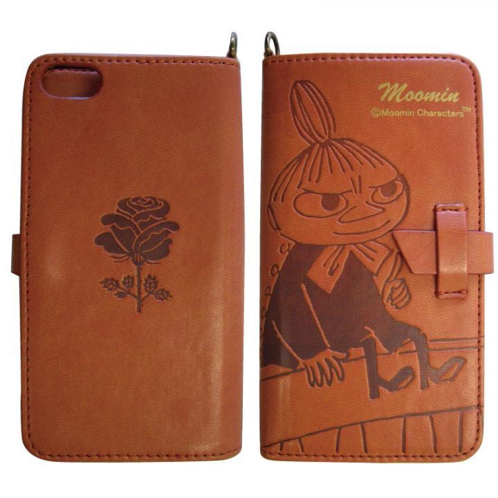ムーミン イタリアンPU book  style iPhone5(ミイ/チェア/ライトブラウン)