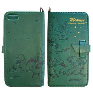 ムーミン イタリアンPU book  style iPhone5 (スナフキン/ホシ/グリーン)