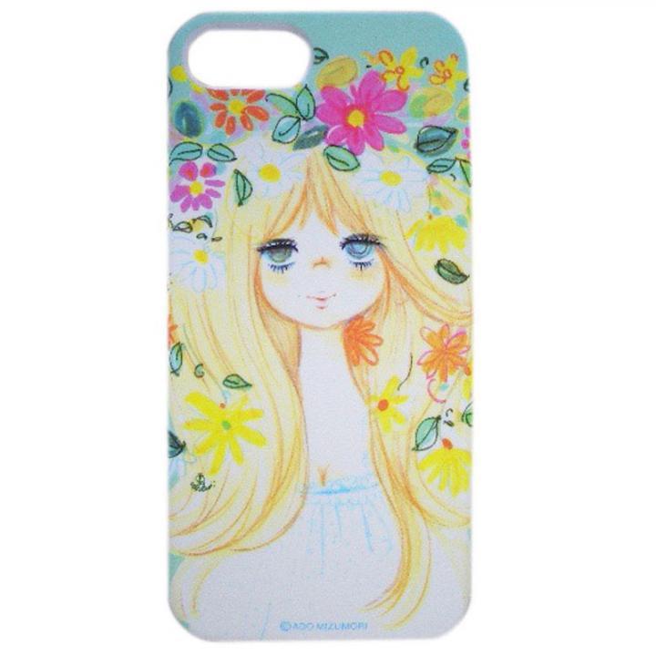 iPhone SE/5s/5 ケース 水森亜土 iPhone5対応(ハナカンムリ)_0