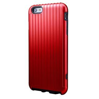 【10月下旬】ICカード対応 2重構造ケース PRECISION レッド iPhone 6 Plusケース