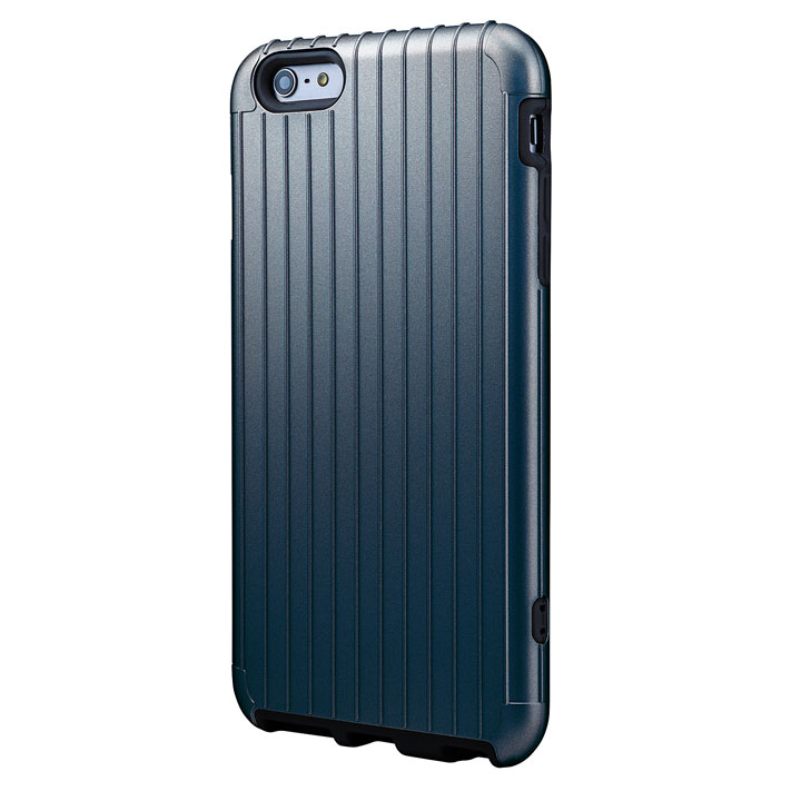 ICカード対応 2重構造ケース PRECISION ネイビー iPhone 6 Plusケース