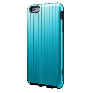 ICカード対応 2重構造ケース PRECISION ブルー iPhone 6 Plusケース