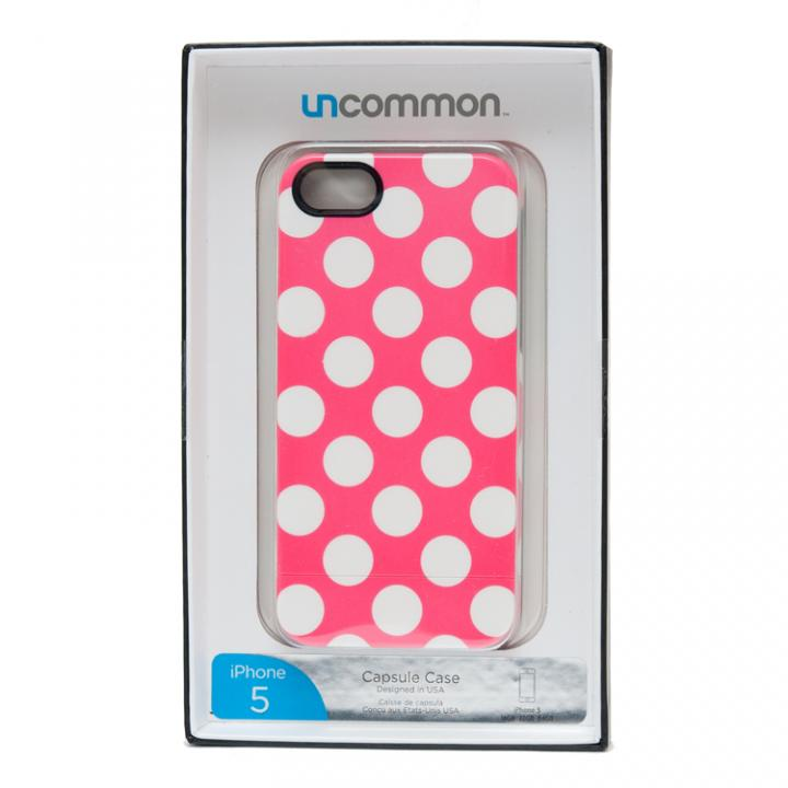 iPhone SE/5s/5 ケース BELEX UNCOMMON  Bright Pink Porka Dot iPhone 5ケース_0